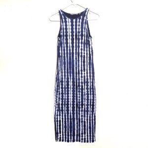 Athleta Shibori Tie-Dye Midi/Maxi Bodycon Dress
